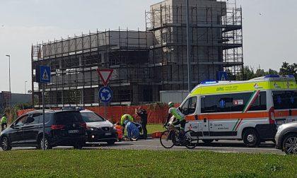 Giussano, incidente in bici
