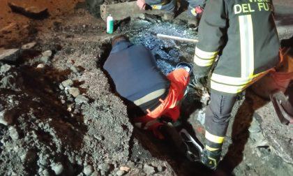 Pompieri a Macherio per una perdita di gas