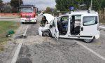 Schianto tra due auto a Misinto: feriti un uomo e una donna FOTO