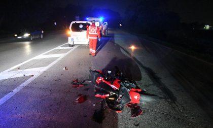 Scontro sulla Sp13, trasportato al Niguarda motociclista 44enne FOTO VIDEO
