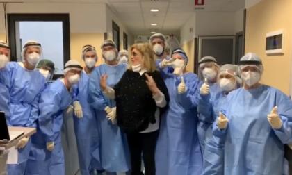 Iva Zanicchi ringrazia in tv l'ospedale di Vimercate