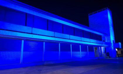 Giornata dei diritti dell'infanzia e Palazzo Terragni si colora di blu