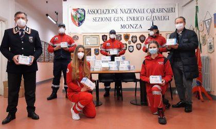 Carabinieri in congedo donano oltre 2mila mascherine ai volontari della Croce Rossa