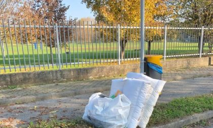 Rifiuti abbandonati in strada a Usmate, il Comune si appella al senso civico