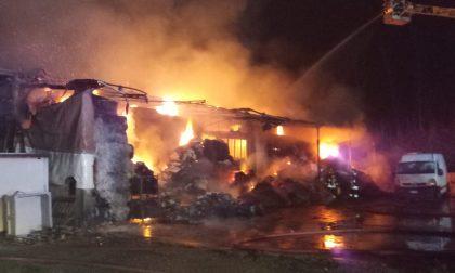 Terribile incendio a Triuggio, a fuoco un'azienda tessile VIDEO