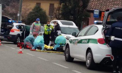 Triuggio: scontro auto moto in via Diaz, soccorso un 52enne