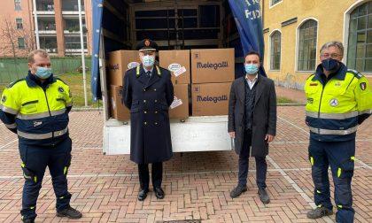 I volontari di Monza Soccorso omaggiano la Polizia locale