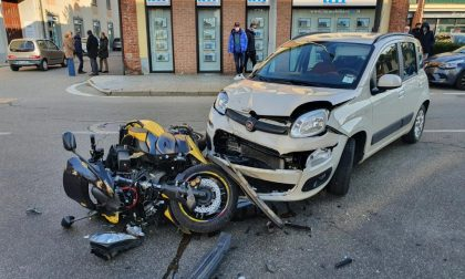Incidente a Meda tra uno scooter e un'auto FOTO
