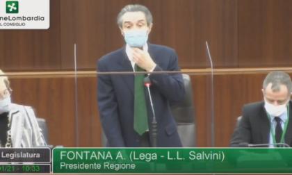 """Fontana riferisce sulla zona rossa in Consiglio regionale: """"La misura è colma"""""""