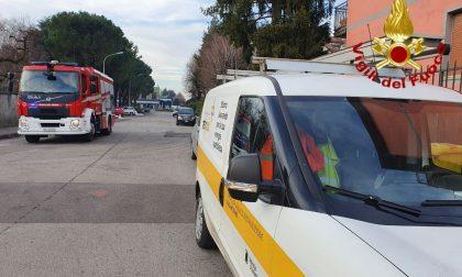 Fuga di gas a Lissone, due squadre di pompieri sul posto