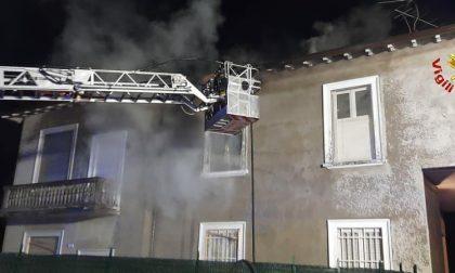 A fuoco un appartamento a Calò di Besana