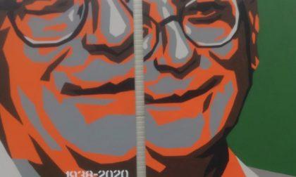 Policlinico, l'omaggio della street art al professor Carlo Vergani