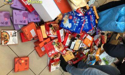 Alimenti, liquori, mascherine e farmaci non sicuri sequestrati dalle Fiamme Gialle ad Agrate