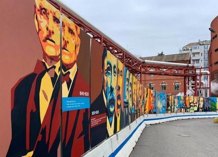 I murales realizzati al Policlinico di Milano