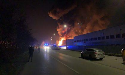 Devastante incendio in ditta a Pozzo d'Adda: spente dopo una notte di lavoro le fiamme
