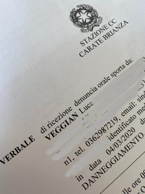 La denuncia del sindaco ai Carabinieri
