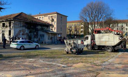 Monza, sgomberata (ancora) l'area dell'ex Macello di via Procaccini