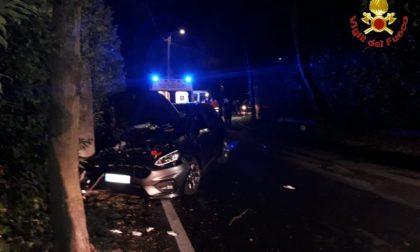 Quattro giovani sbandano e si schiantano contro un palo in auto: miracolati SIRENE DI NOTTE