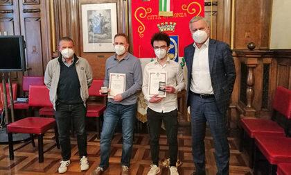 Monza, a Roberto Borgonovo e Sebastiano Parravicini la medaglia della Luna