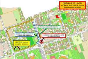 Modifiche alla viabilità nel rione Bareggia per i lavori stradali