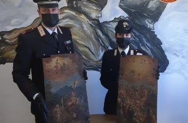 Nuova operazione del Nucleo per la tutela del Patrimonio Culturale: restituite due porticine di tabernacolo del 1700