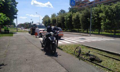 Schianto tra scooter e bici, paura a Nova Milanese