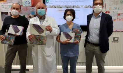I lavoratori della Knorr-Bremse donano tablet ai bambini del reparto di pediatria a Vimercate