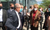 L'assessore regionale Letizia Moratti in visita all'ospedale di Vimercate