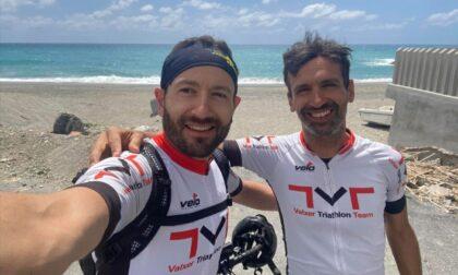 L'impresa di due tesserati della Triathlon Seregno: in bici fino in Sicilia