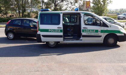 Scontro auto moto in via Monte Santo, centauro in ospedale