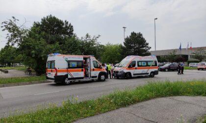 Scontro tra due auto a Concorezzo: soccorsi e Carabinieri sul posto