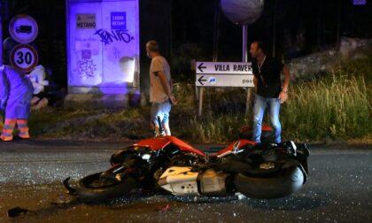 Incidente auto moto nella notte a Besana
