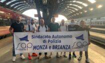 Poliziotti in presidio per solidarietà al collega indagato
