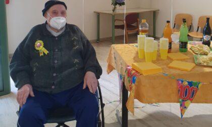 Il partigiano Egeo Mantovani ha spento 100 candeline