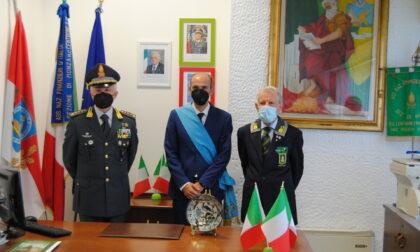 Prima visita ufficiale del Presidente della Provincia nella nuova sede della Guardia di Finanza