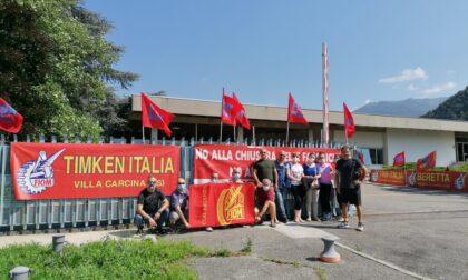 Lavoratori della Rollon a Brescia per portare solidarietà ai colleghi della Timken