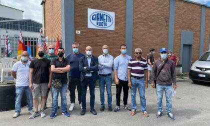 """Lavoratori della Gianetti in presidio. Monti """"Colloquio negato"""""""