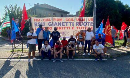 Metalmeccanici in presidio per sostenere i lavoratori della Gianetti