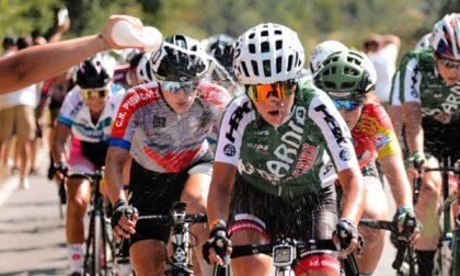 La squadra di cicliste di Cesano impegnata a Chianciano Terme