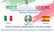 A Lissone un maxi-schermo per seguire Italia-Spagna