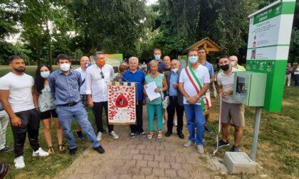 Inaugurato il parco dedicato a Luca Sala, donato un defibrillatore