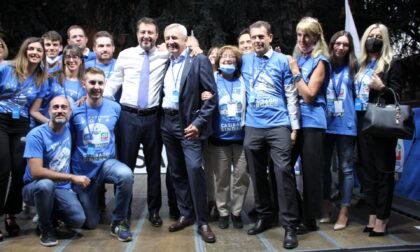 Matteo Salvini a Biassono a sostegno di Casiraghi