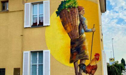 Paina diventa sempre più bella: spunta un nuovo murales