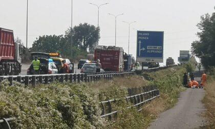Grave incidente sulla Statale 36: motociclista soccorso in codice rosso