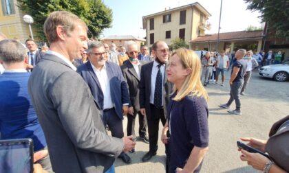 Giorgia Meloni ad Arcore per tirare la volata a Maurizio Bono