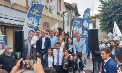 Salvini a Seveso per sostenere il candidato sindaco Borroni