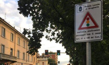 Dodicimila multe ai semafori di Brugherio in meno di cinque mesi