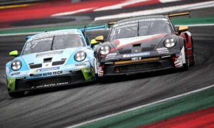 Battaglie sotto la pioggia nella domenica dell'International GT Open all'Autodromo