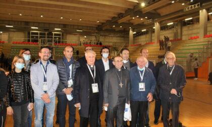 Monsignor Delpini al PalaMeda per incontrare allenatori, dirigenti e atleti delle società sportive