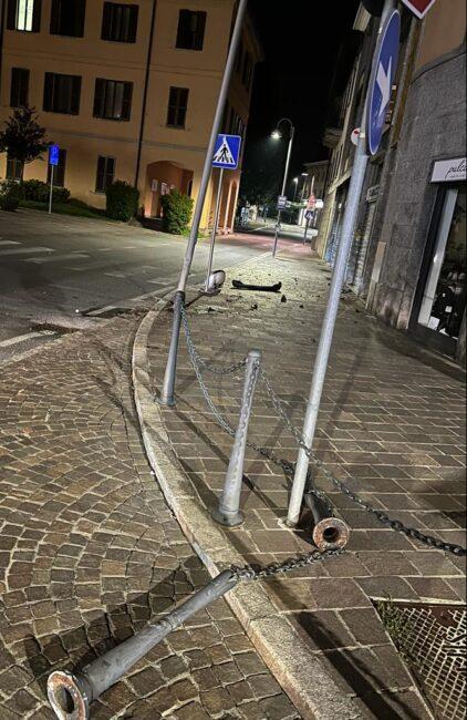 L'incidente di domenica sera a Carate Brianza